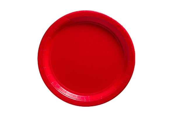 Red Small Paper Plates - Pop Roc Parties