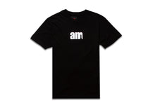 Load image into Gallery viewer, AM LOGO TEE BLACK- WHITE LOGO