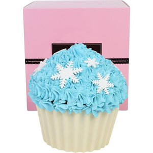 Frozen Blue Vanilla Giant Cupcake with Snowflakes