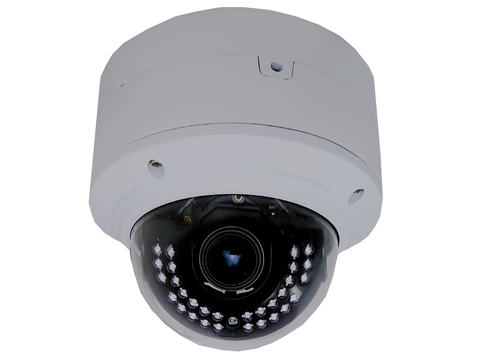 Weather/Vandalproof IP HD IR Dome Camera 4MP, H.265, 2.8~12mm Vari-focal Lens JIPC-4MPVF-Security Cameras & Recorders-Various-Jayso Electronics