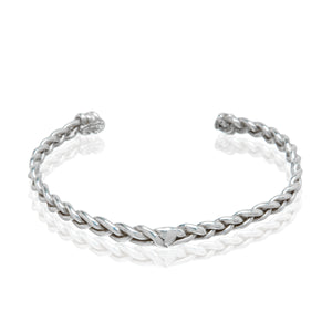 braided sterling silver cuff bracelet ali grace jewelry handmade cool girl style blogger