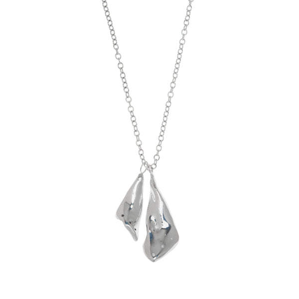 Large Irregular Tear Shaped Diamond Pendant