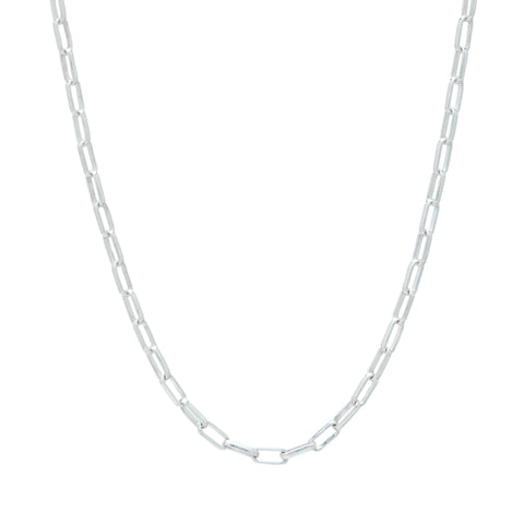 sterling silver paperlink chain custom design necklace charm necklace