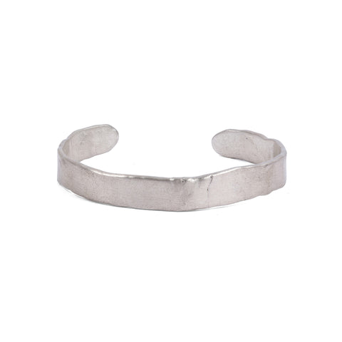 silver cuff bracelet designed with brandon boyd