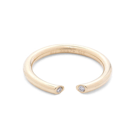 14k yellow gold ring with diamond  engagement ring fashion style jewelry