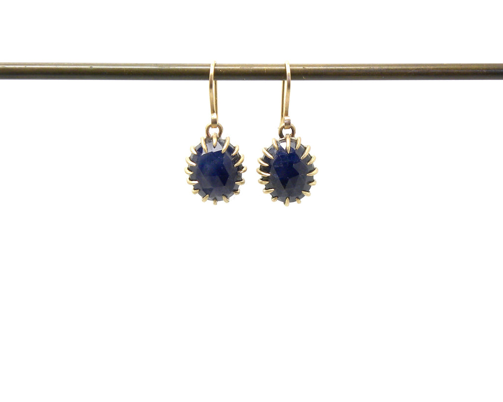 Midnight Sapphire Vanity Earrings-Hannah Blount Jewelry