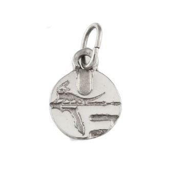 "3/8"" Sterling Silver UF Pell Logo Charm Pendant"