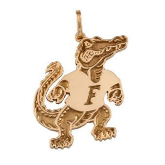 "1 1/4"" Albert Gator 14K Gold Pendant - Jewelry Works"