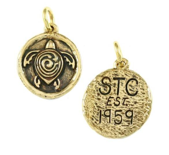 "18634 - 1 1/2"" BRONZE STC SYMBOL WITH INITIALS & DATE ON BACK"