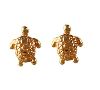 "30805 - 3/8"" GREEN SEA TURTLE POST EARRINGS"