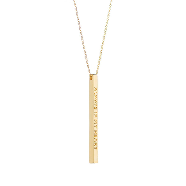 Gold Always in My Heart Necklace - MantraBand