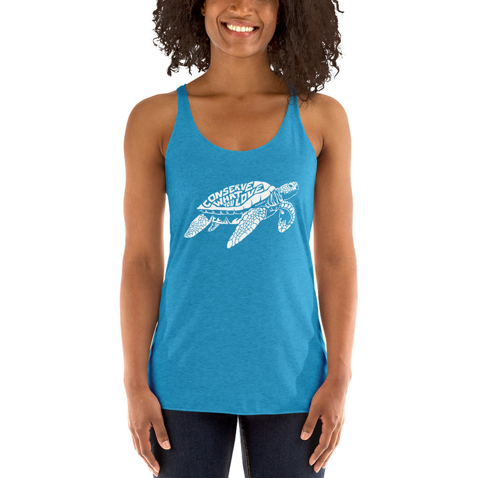 Women's Conserve What You Love Sea Turtle Tank