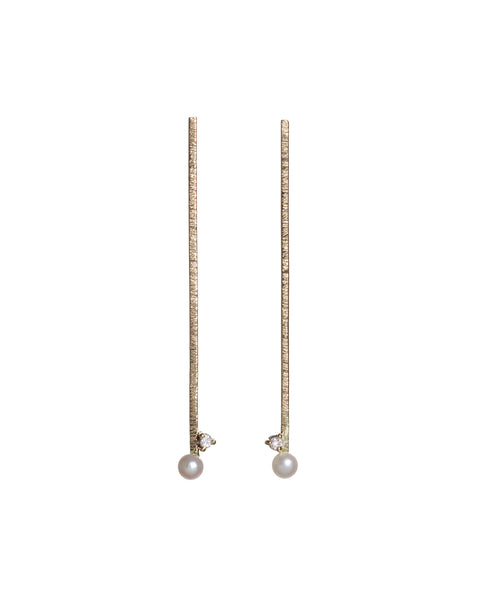 long camille pearl earrings