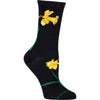 Daffodil Crew Socks on Black
