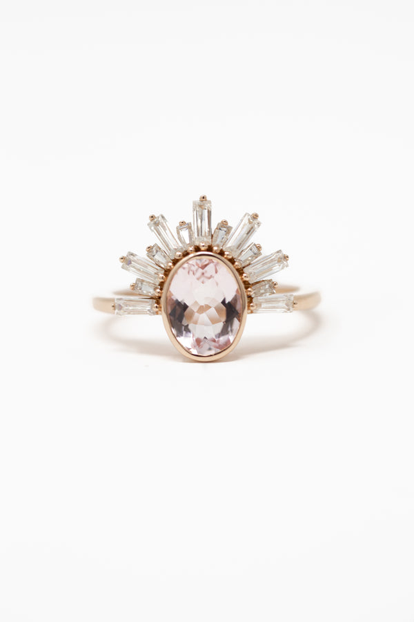 SOLANGE MORGANITE RING
