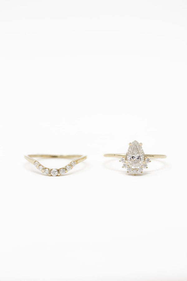 DIANA MOISSANITE RING SET