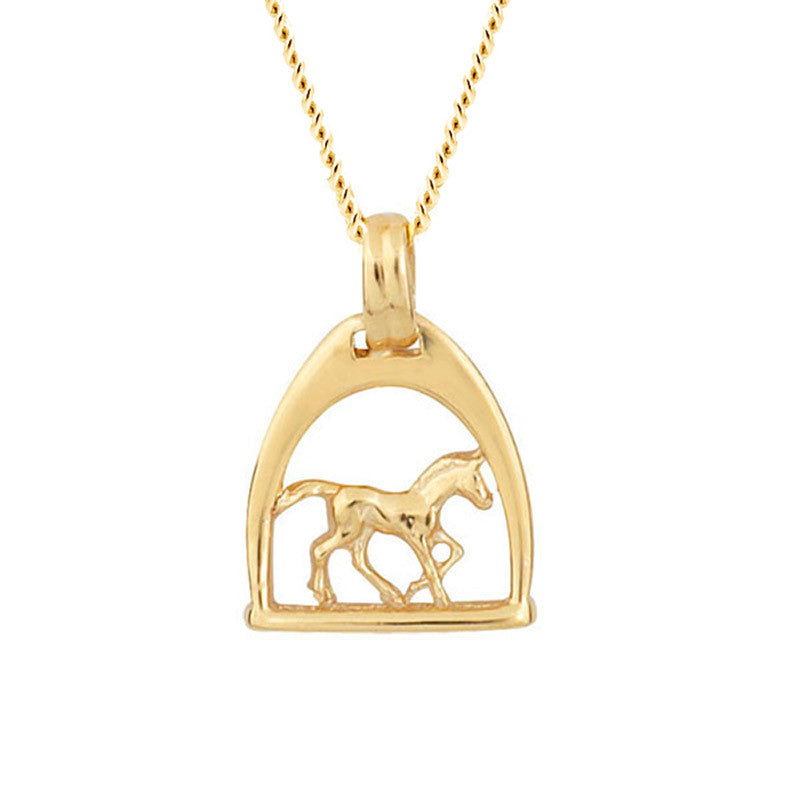 Childs Stirrup and Pony Pendant