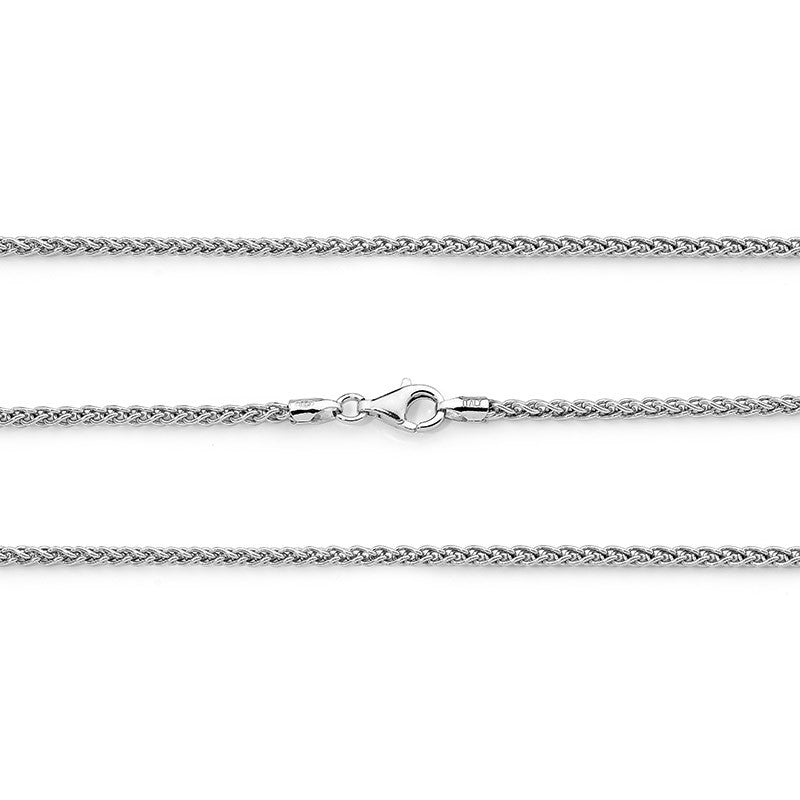 Sterling Silver 2mm Wheat Chain