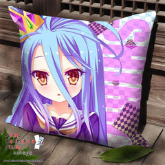 New Shiro - No Game No Life Anime Dakimakura Square Pillow Cover SPC09