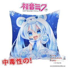 New Hatsune Miku - Vocaloid 40x40cm Square Anime Dakimakura Waifu Throw Pillow Cover GZFONG122