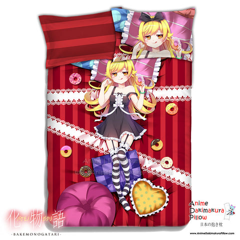 New Oshino Shinobu - Bakemonogatari Japanese Anime Bed Blanket or Duvet Cover with Pillow Covers ADP-CP151205 - Anime Dakimakura Pillow Shop | Fast, Free Shipping, Dakimakura Pillow & Cover shop, pillow For sale, Dakimakura Japan Store, Buy Custom Hugging Pillow Cover - 1