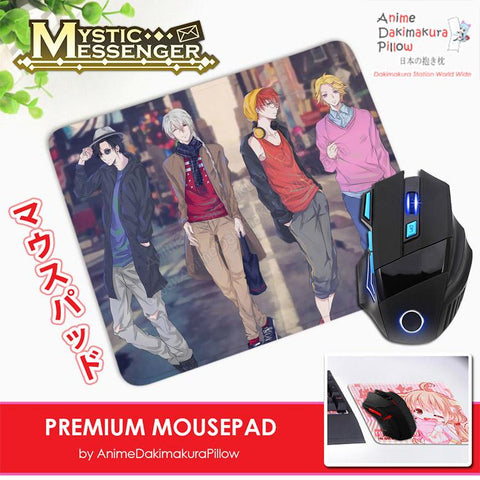 ADP Mystic Messenger Anime Premium Mousepad Standard Size Stitched Edge Mouse Pad Non-Slip Professional Gaming Desk Pad H210034