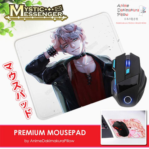 ADP Saeran Choi Unknown - Mystic Messenger Anime Premium Mousepad Standard Size Stitched Edge Mouse Pad Non-Slip Professional Gaming Desk Pad H210037