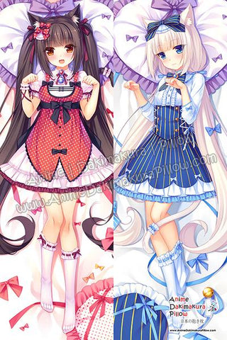 New-Chocola-and-Vanilla-Nekopara-Anime-Dakimakura-Japanese-Hugging-Body-Pillow-Cover-H3640-A