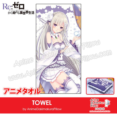 New-Emilia-Re-Zero-Japanese-Anime-Soft-Quick-Dry-and-Highly-Absorbent-Towel-ADP-MJ170076