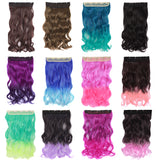 20 Inch Multi-colored Fashion Ladies Wave Curly 5 Clip Long Curly Hairpiece