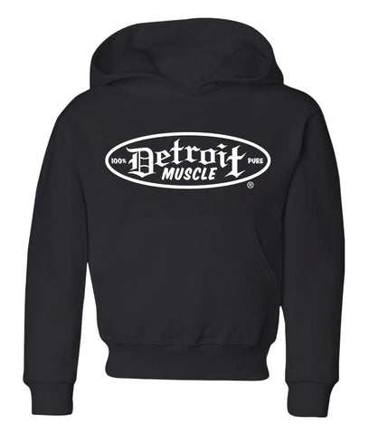 Burn Rubber Hoodie, Black, Youth