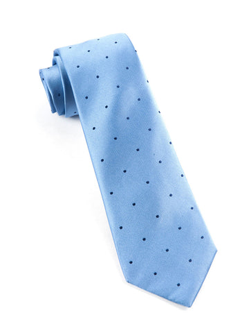 The Tie Bar Light Blue Satin Dot Necktie