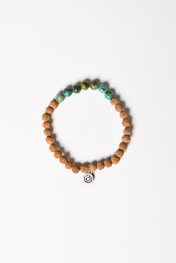 108 African Turquoise Bracelet