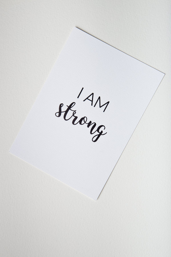 Affirmation Card – I Am Strong