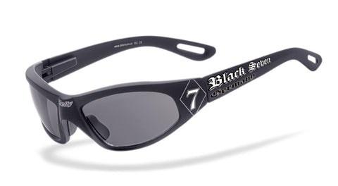 BIKERBRILLE 'BLACK SEVEN' by HELLY