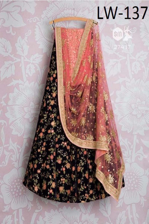 BLACK COLOR DESIGNER LEHENGA CHOLI WS-137