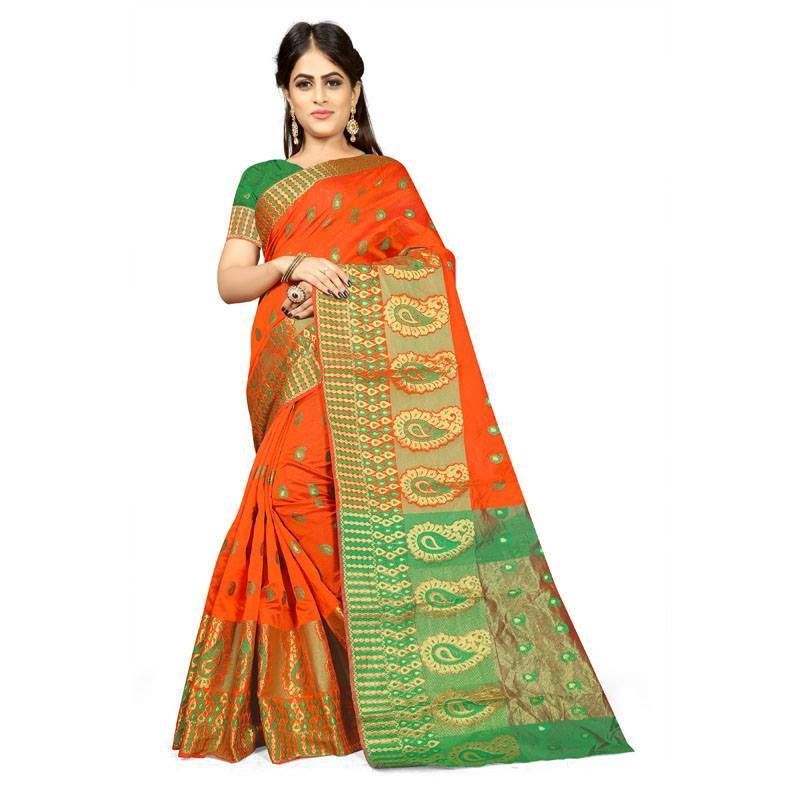 Orange Colour Designer Kanjivaram Saree Ws-1005