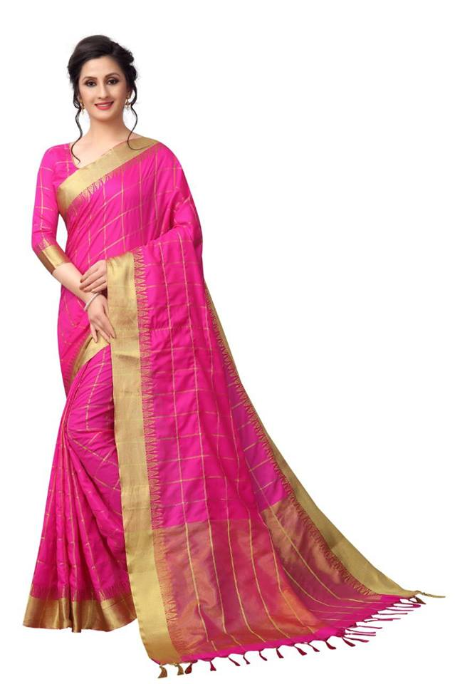 Pink Color Pure Linen Saree Ws-5010