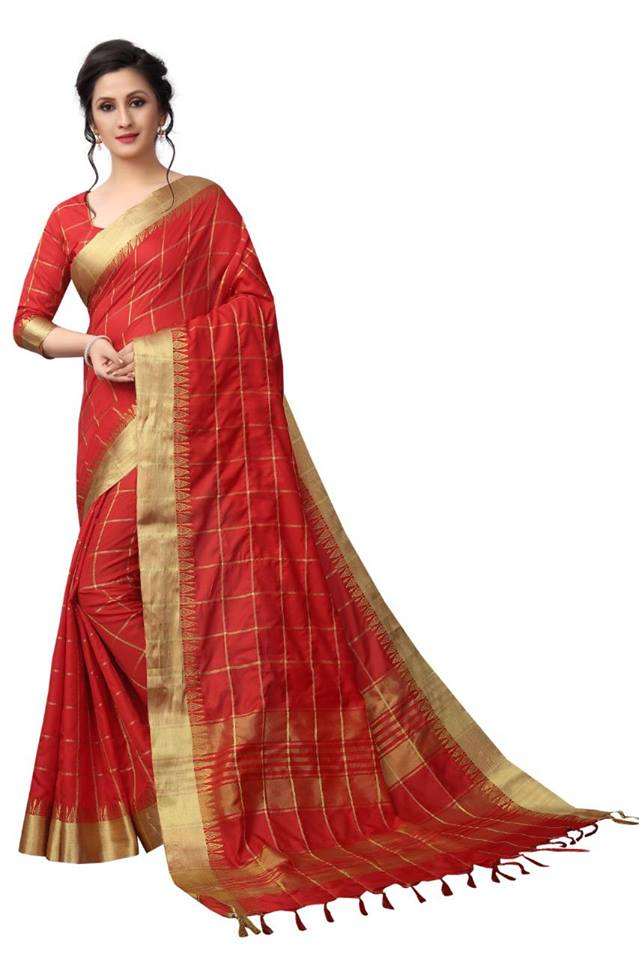maroon Color Pure Linen Saree Ws-5011