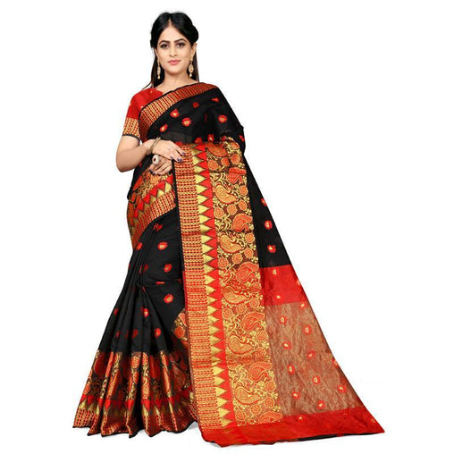 Black Colour Designer Kanjivaram Saree Ws-1008