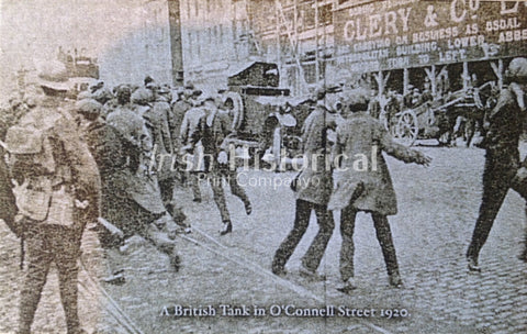 A British Tank in O' Connell St 1920 - Green Gallery