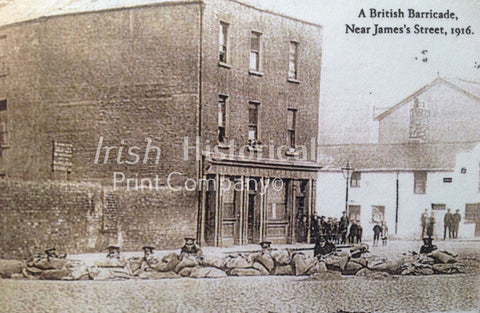 A British Barricade, Near James' Street, 1916 - Green Gallery