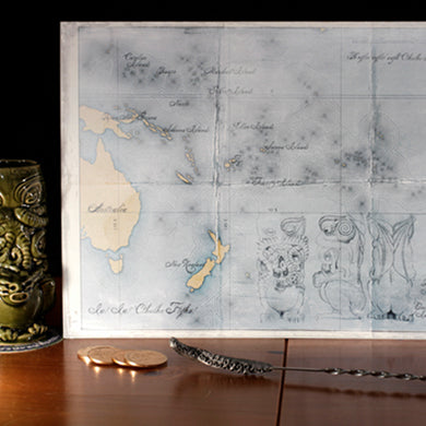 Open Edition  - Kramer/Hoag map of Oceania featuring R'yleh