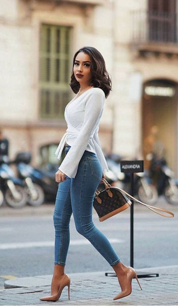 cinched waist top makes you look skinnier, fashion tips