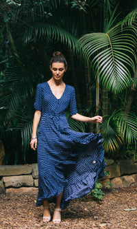 LOVE OF ME MAXI DRESS IN POLKA DOT - DRESS - Koogal.com.au