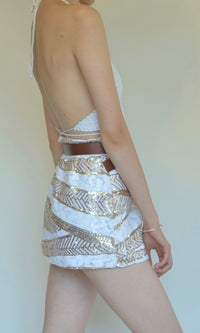 WILD HORSE FESTIVAL SEQUIN MINI SKIRT - BOTTOMS - Koogal.com.au