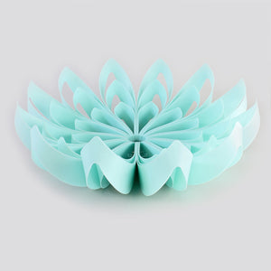 Petals decorative fruit bowl - Turquoise