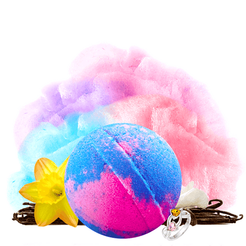 Cotton Candy | Single Jewelry Bath Bomb®-Jewelry Bath Bombs-The Official Website of Jewelry Candles - Find Jewelry In Candles!