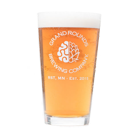 Grand Rounds Brewpub Pint Glass