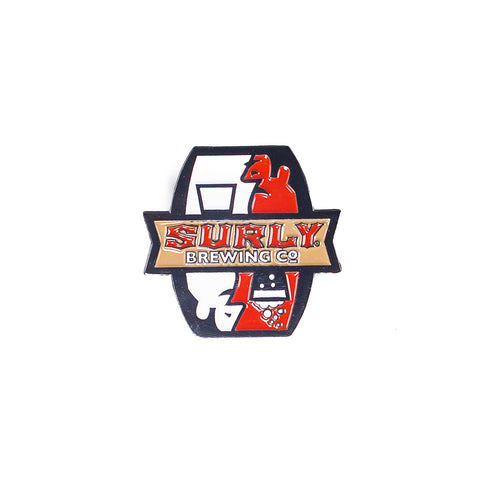 Surly Enamel pin front